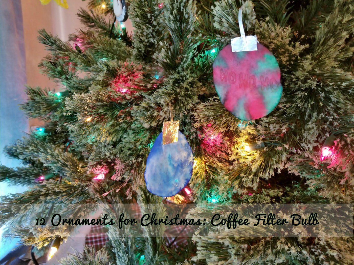 Coffee Christmas Tree Ornaments.12 Ornaments For Christmas Coffee Filter Bulb