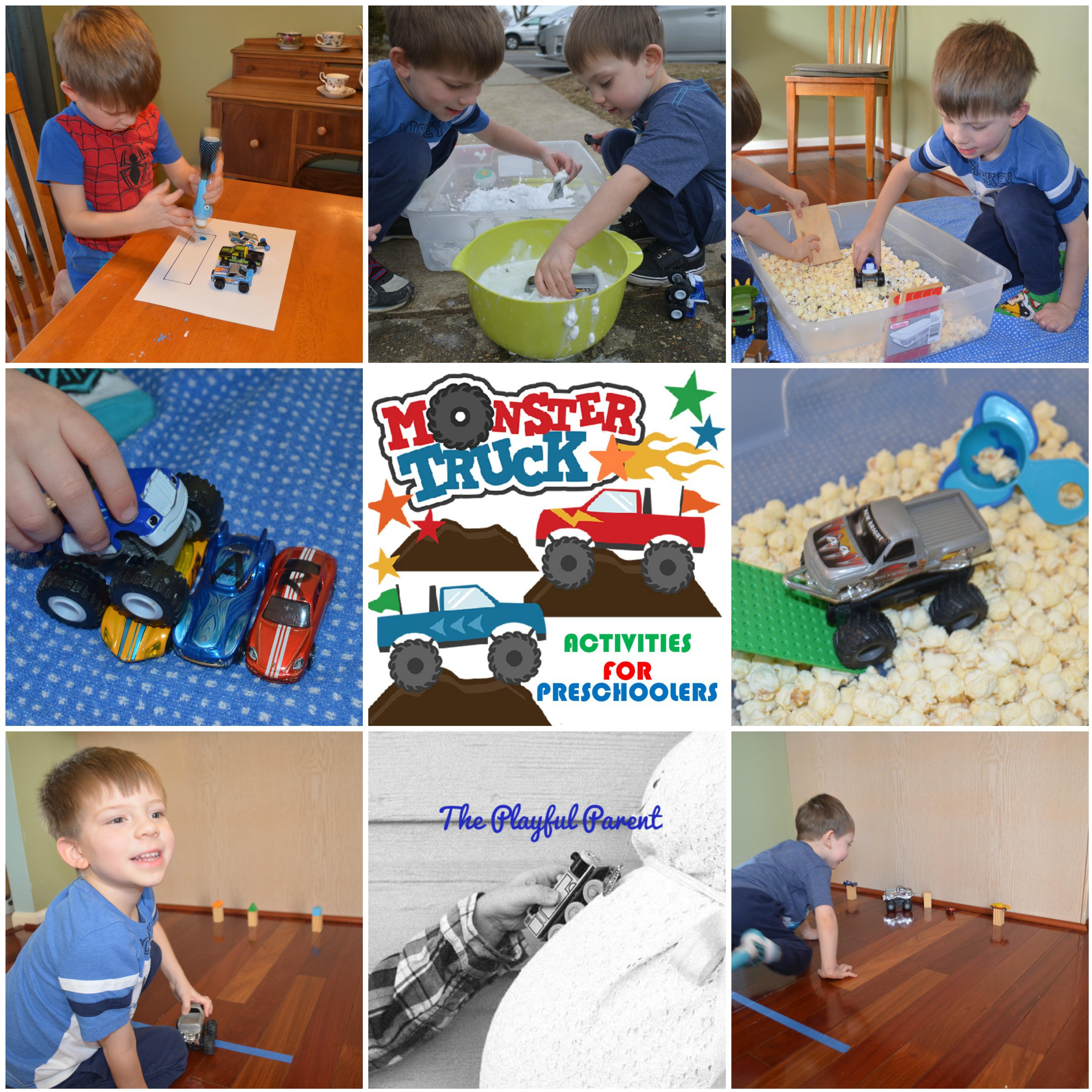 Five Monster Truck Activities For Preschoolers