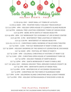 HOLIDAY EVENTS - PAGE 1