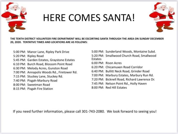 Hope For Christmas December 8, 2021 Holly Springs Baptist Volunteers, December 8 2020 Somd Santa Run Schedule