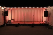 The Stage Space for live music, the performance series, and Pecha Kucha night.