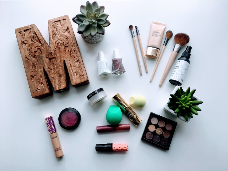 Flat Lay With Makeup Products