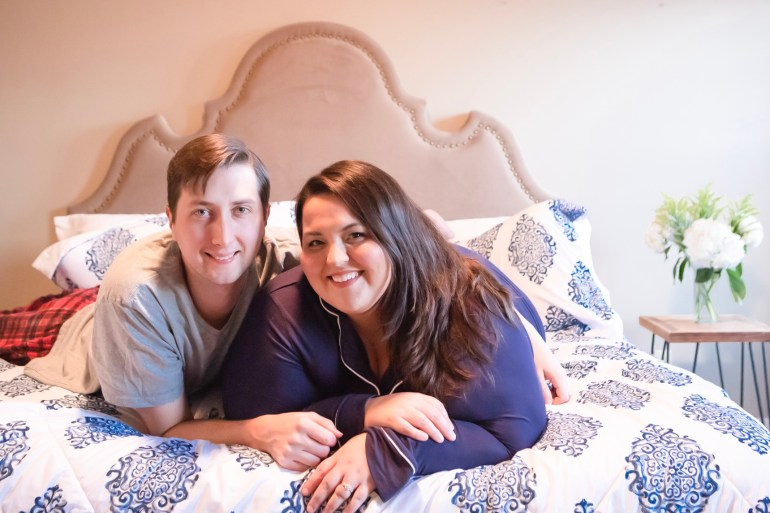 Miranda Schultz of The Plus Life and Husband Kevin on their Big Fig Mattress
