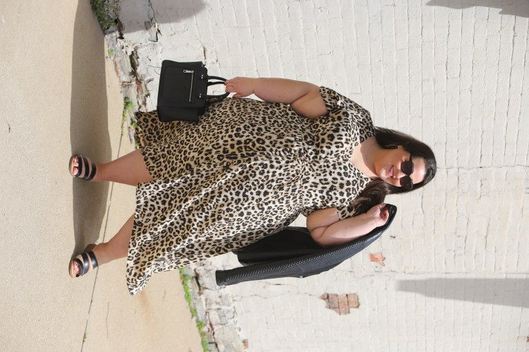 Miranda Schultz of The Plus Life Blog Wearing The Beauticurve Animal Print Maxi from the Beauticurve X Lane Bryant Spring 2019 Collection