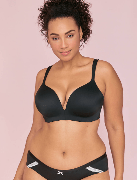 33044d658d6 The Cacique Simply Wire Free Uplift Plunge Bra in Black Available in Sizes  32-50