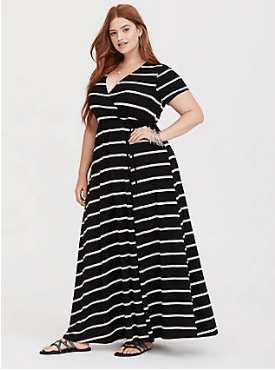 Black and white plus size maxi from Torrid