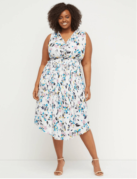Floral Midi Dress from Lane Bryant
