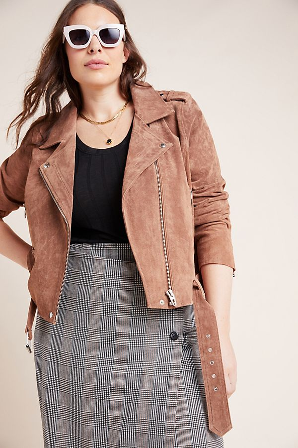 Fall 2019 Fashion Trends - Earth Tones -  Suede Moto Jacket