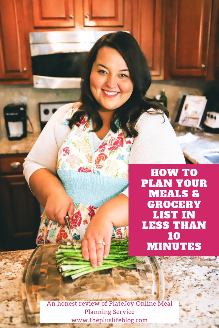 Miranda Schultz of The Plus Life Blog Reviews PlateJoy Meal Planning Service