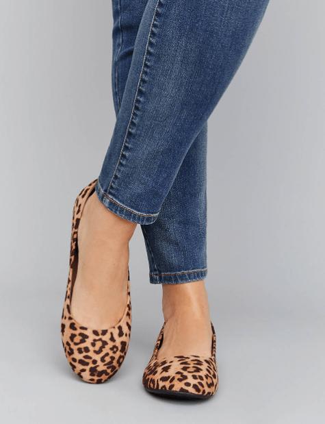 Fall 2019 Fashion Trends - Animal Print - Leopard Wide Width Ballet Flats