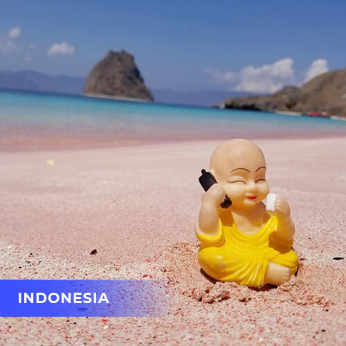 Buddha travels to Indonesia