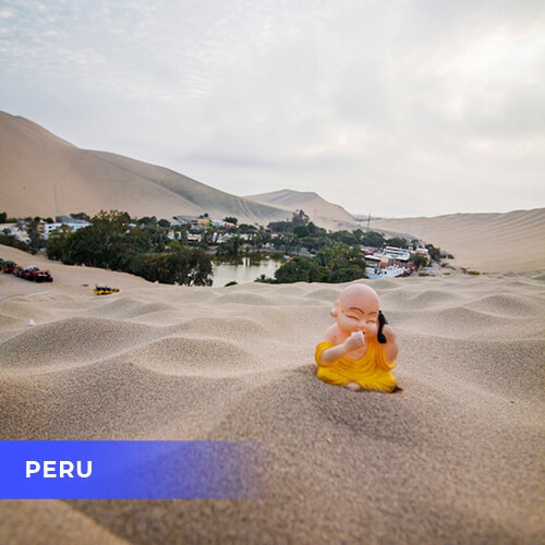 Buddha travels to Peru