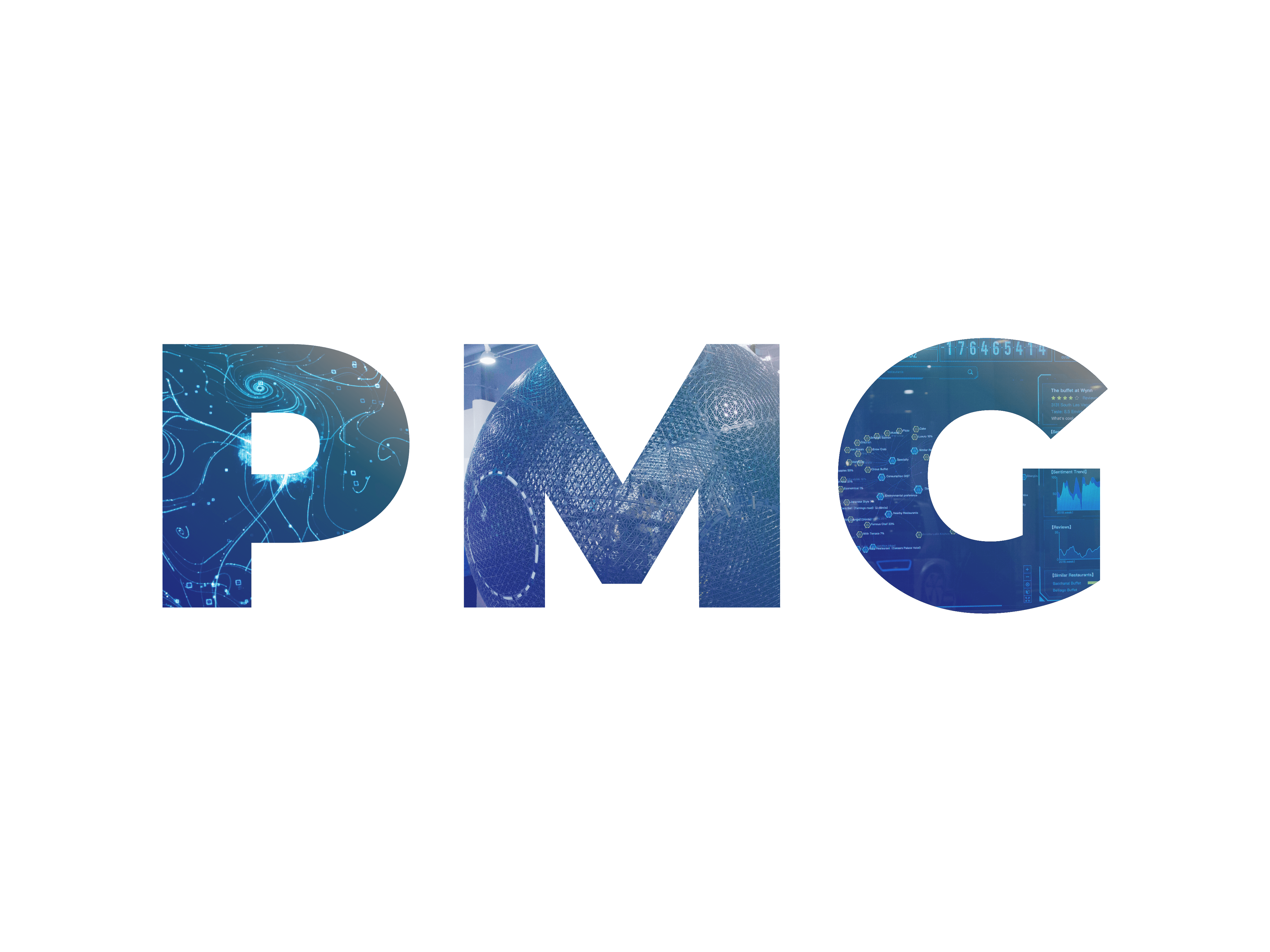 Graphical logo for PMG, a content marketing and demand generation agency that builds brand and drives demand for tech titans and SaaS innovators