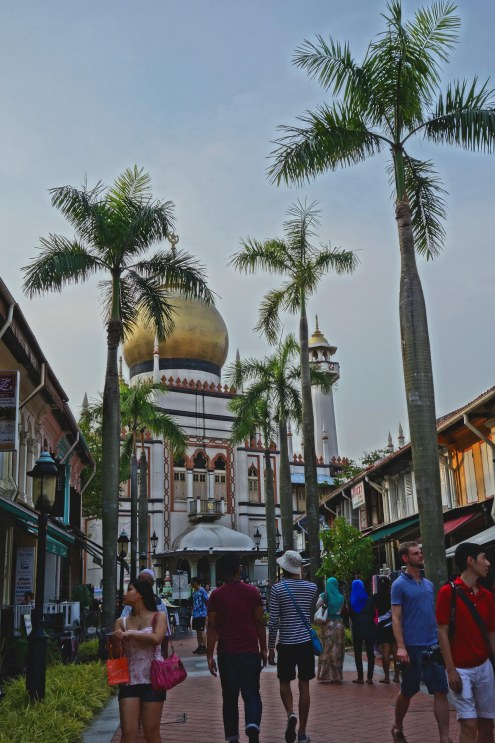 Arab street overlooking a Mosque.