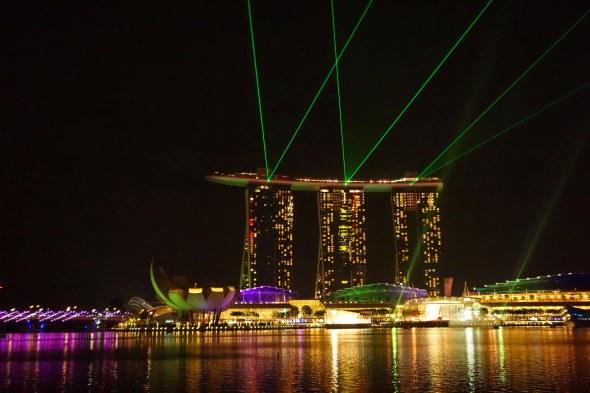 SANDS HOTEL laser show