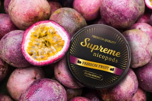 Supreme Passion Fruit Flavoured Nicotine Pouch Snus