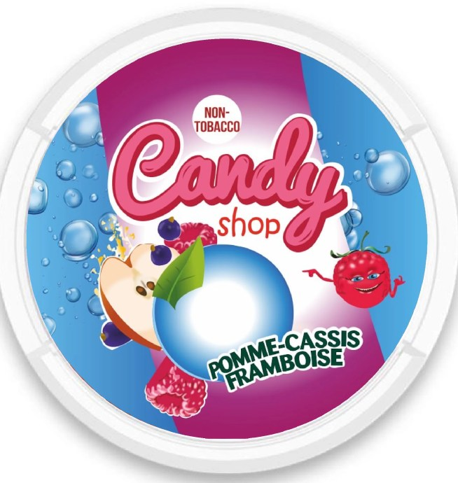candy shop apple blackcurrant nicotine pouches snus nicopods the pod block