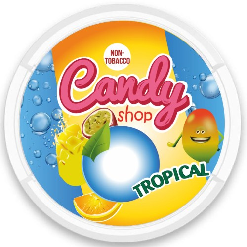 candy shop tropical cola nicotine pouches snus nicopods the pod block