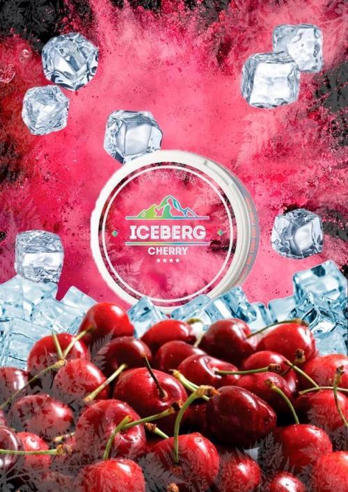 iceberg cherry nicotine pouches snus nicopods the pod block