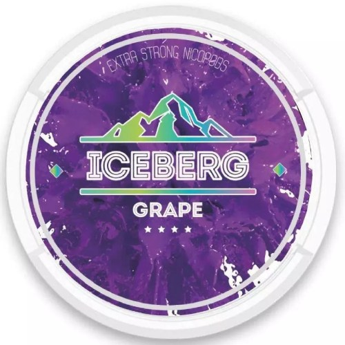 iceberg grape nicotine pouches snus nicopods the pod block