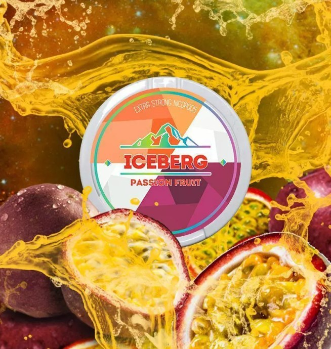 iceberg passionfruit nicotine pouches snus nicopods the pod block