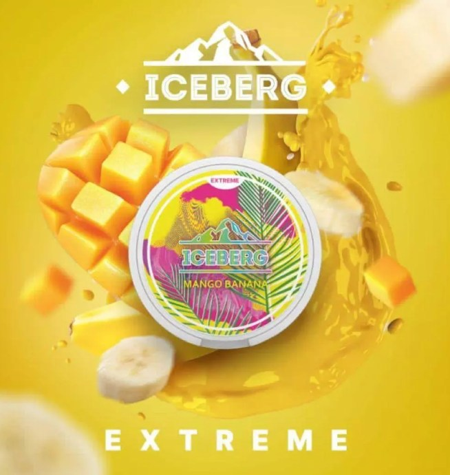 Iceberg Mango and Banana Flavoured Nicotine Pouch