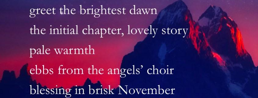 Blessing in brisk November