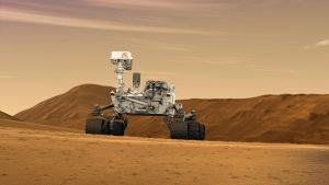 An artist's concept of the Mars Curiosity rover (Photo Credit: NASA/JPL-Caltech [Public domain], via Wikimedia Commons).