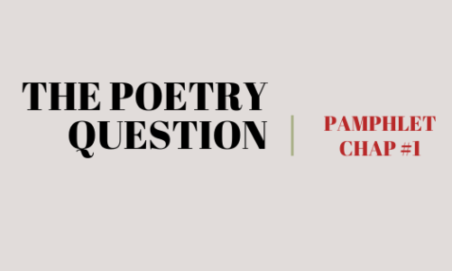 OPEN SUBMISSION: TPQ POETRY PAMPHLET SERIES #1