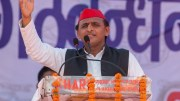 Akhilesh Yadav in a Rally