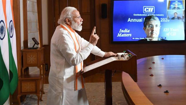 Narendra Modi at CII