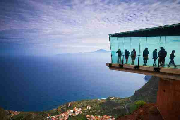 The Mirador de Abrante in La Gomera. (Photo by Walter Bibikow / Getty Images)