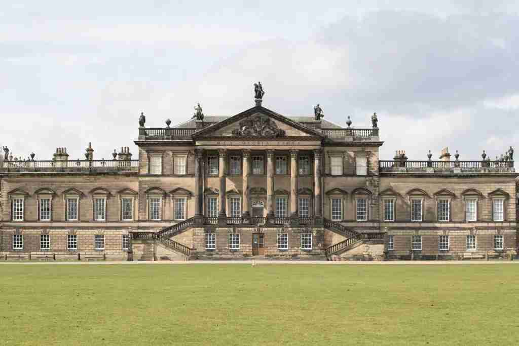 Exterior view of Wentworth Woodhouse as the Wentworth Woodhouse Preservation Trust embark on a major project to restore Wentworth Woodhouse stately home and open it to the public. (Photo by Aaron Chown/PA Images via Getty Images)