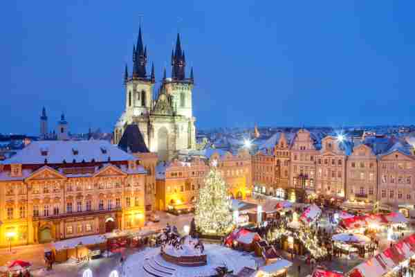 The Prague Christmas Market. (Photo by Frank Chmura/Getty Images)
