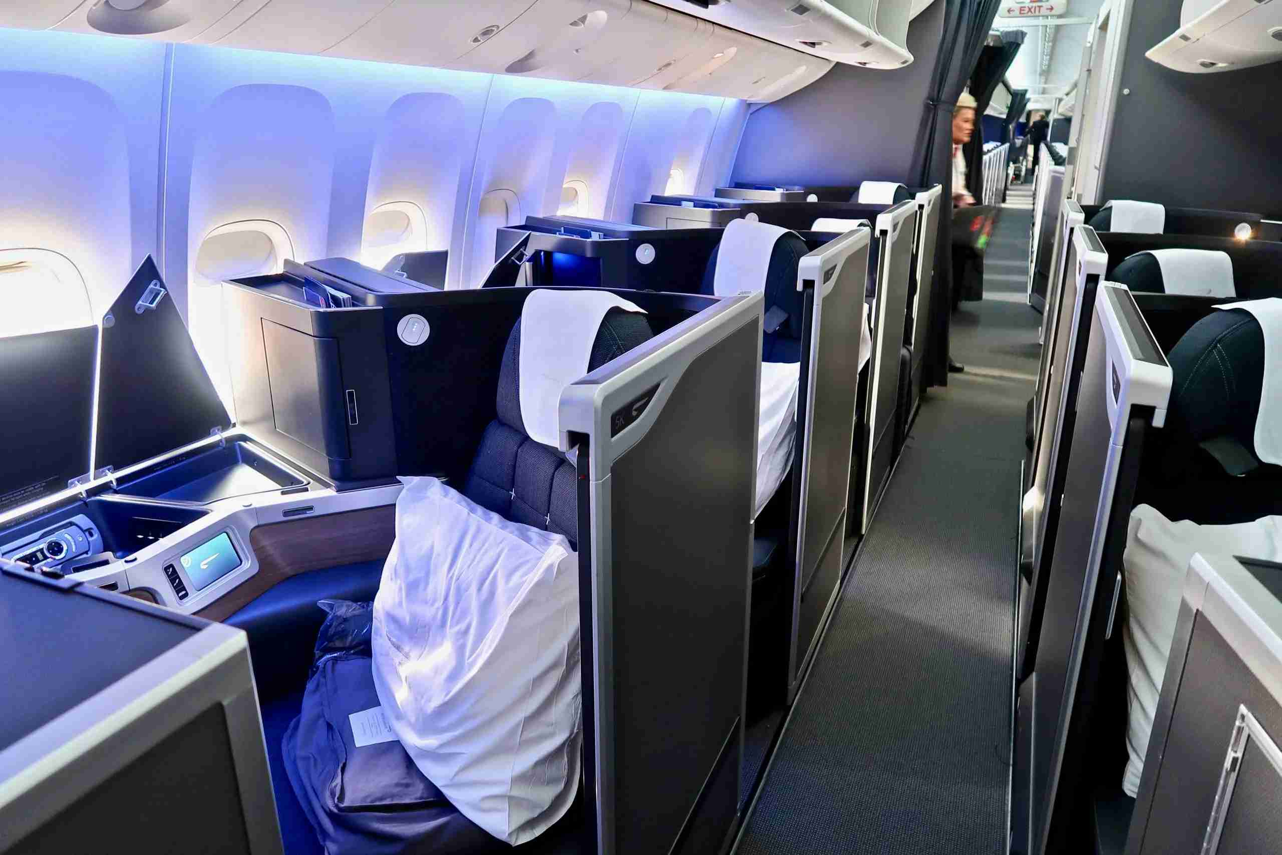 The mini-cabin of Club World Suites on the refurbished British Airways B777-200