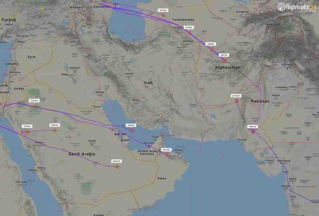 How Middle East airspace closures may affect your travel