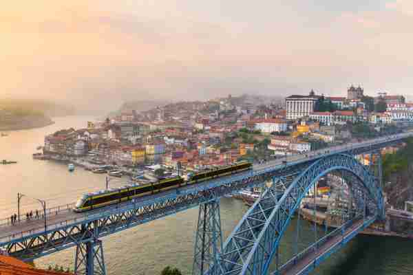 Dom Luís I Bridge in Porto, Portugal. (Photo by Henglein and Steets/Getty Images)