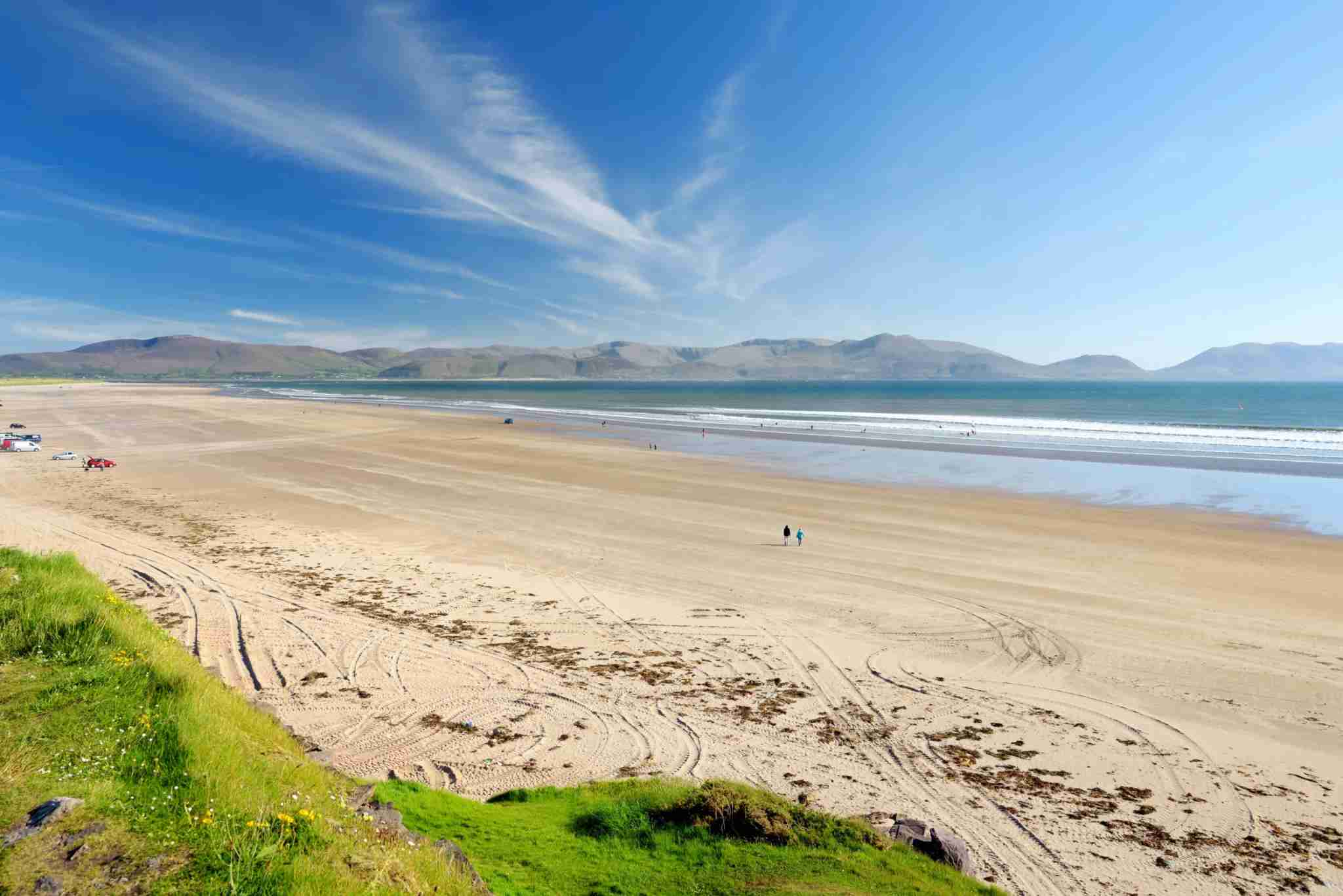 Inch beach, wonderful 5km long stretch of glorious sand and dunes, popular for surfing, swimming and fishing, located on the Dingle Peninsula, County Kerry, Ireland. (Photo by MNStudio/Getty Images)