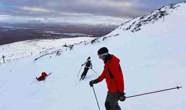 A great weather day for skiers in Glencoe