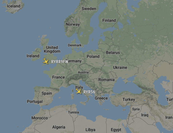 (Image courtesy of FlightRadar24)