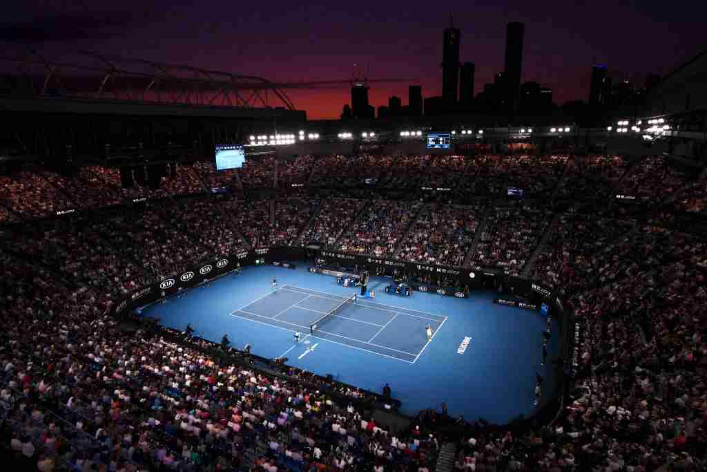 MELBOURNE, AUSTRALIA - FEBRUARY 02: General view inside Rod Laver Arena during the Men