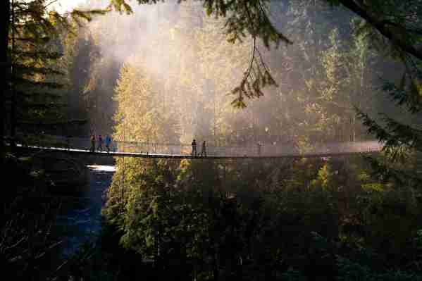 Capilano Suspension Bridge, Vancouver. (Photo by Alexandre Deslongchamps/Getty Images)