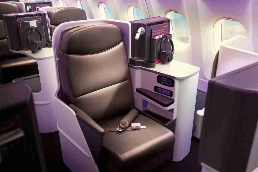 Staggered Upper Class on the A330-200 (Photo courtesy Virgin Atlantic)