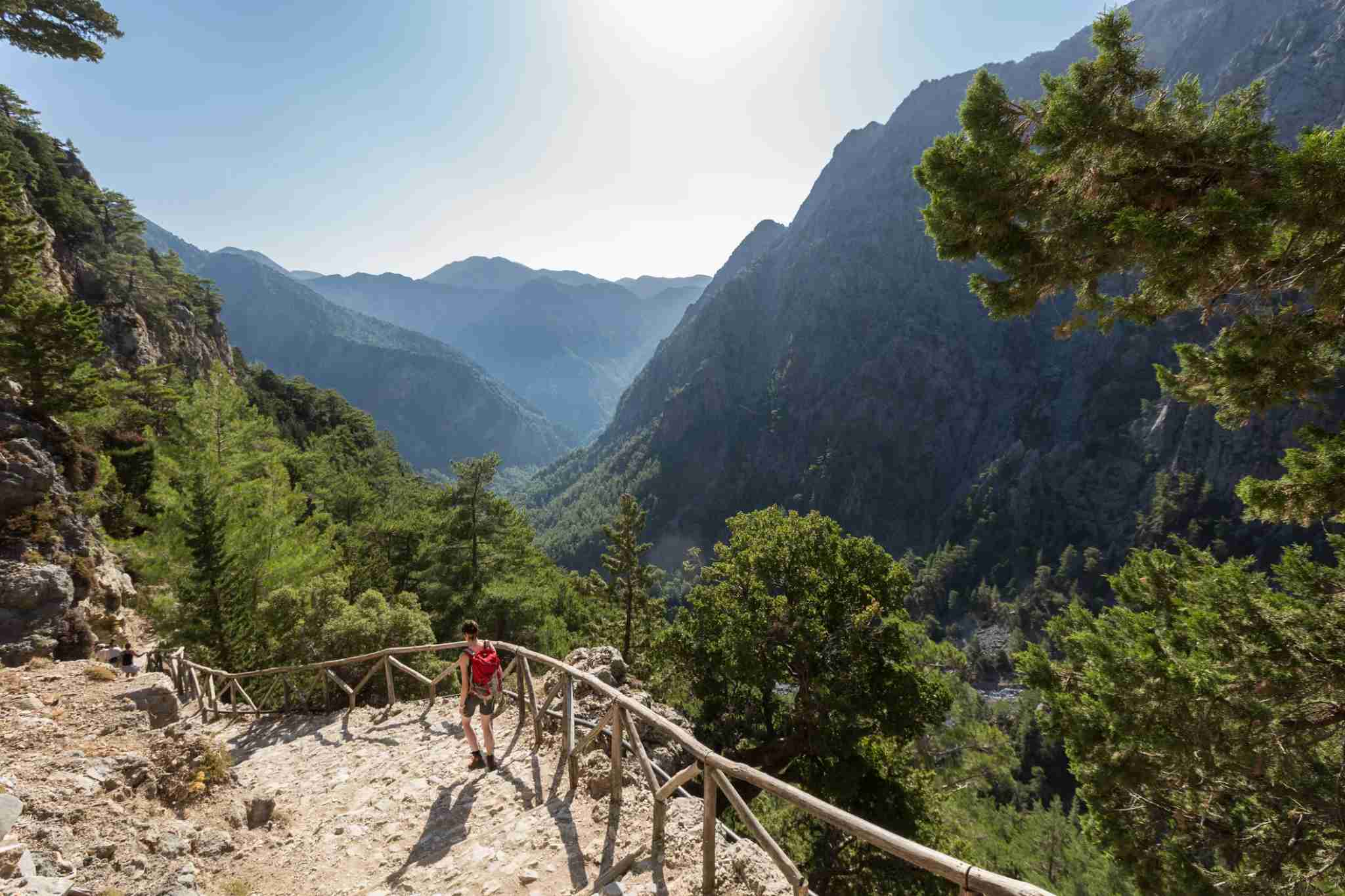 A woman on her way down to the entrance of Samariá Gorge, Crete. Photo by Saro17-Getty