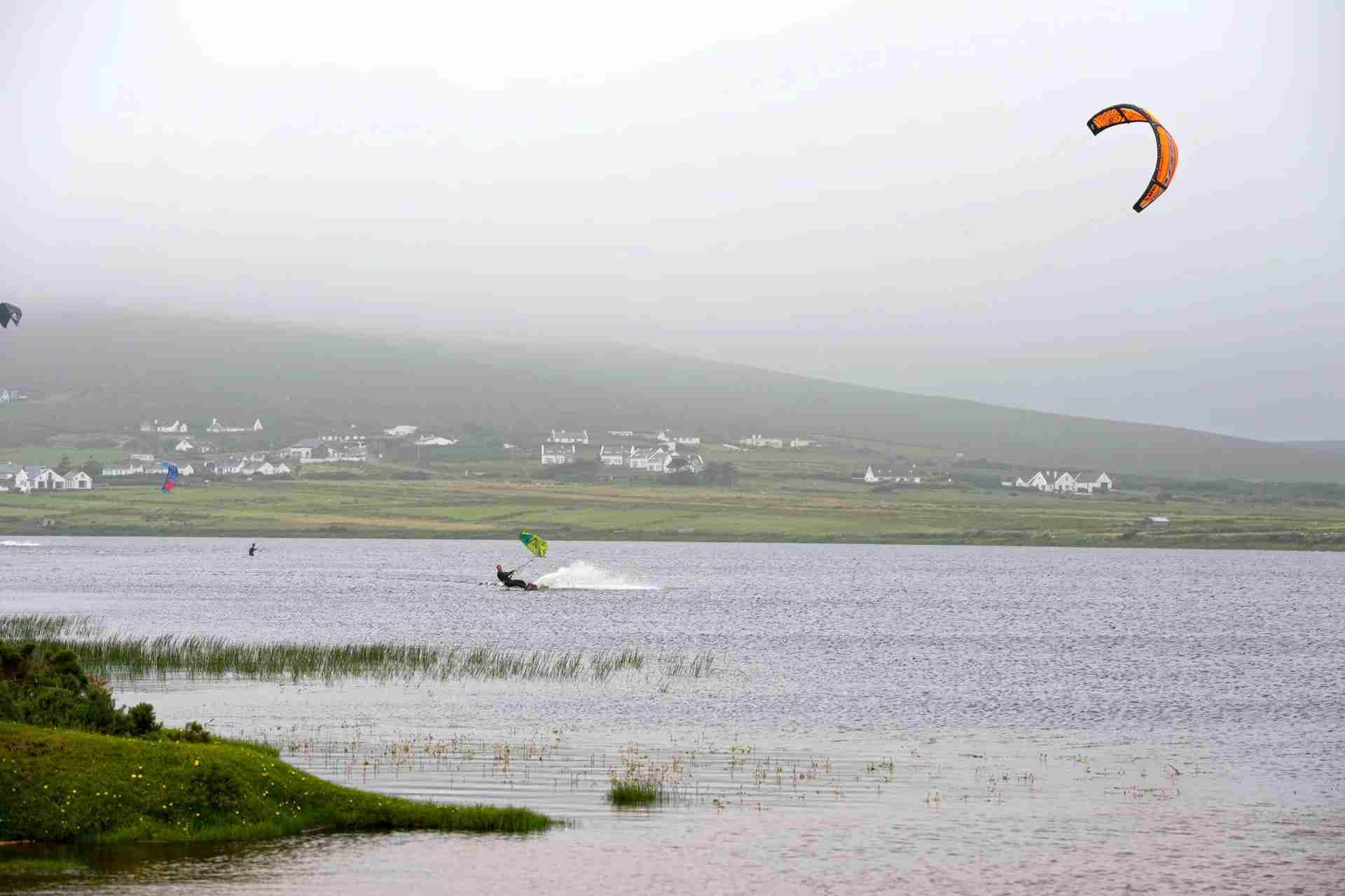 Kitesurfing at Keel Lough of Achill Island. (Photo by Feifei Cui Paoluzzo/Getty Images)