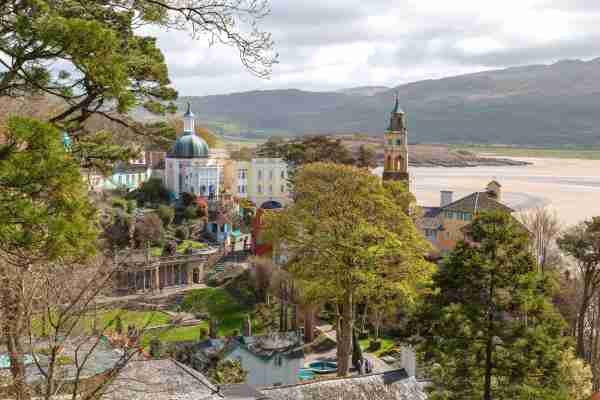 Portmeirion is a colourful, popular and picturesque tourist village. It was designed and built by architect Sir Clough Williams-Ellis between 1925 and 1975 in the style of an Italian village, located on the estuary of the River Dwyryd. Photo by Mieneke Andeweg-van Rijn / Getty Images