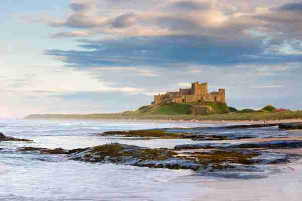 UK Northumberland Bamburgh Castle UK Northumberland Bamburgh Castle viewed in the evening light (Photo by Travelpix Ltd/Getty Images)