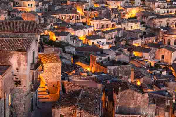 The Town of Modica in Sicily. (Photo by Atlantide Phototravel/Getty Images)