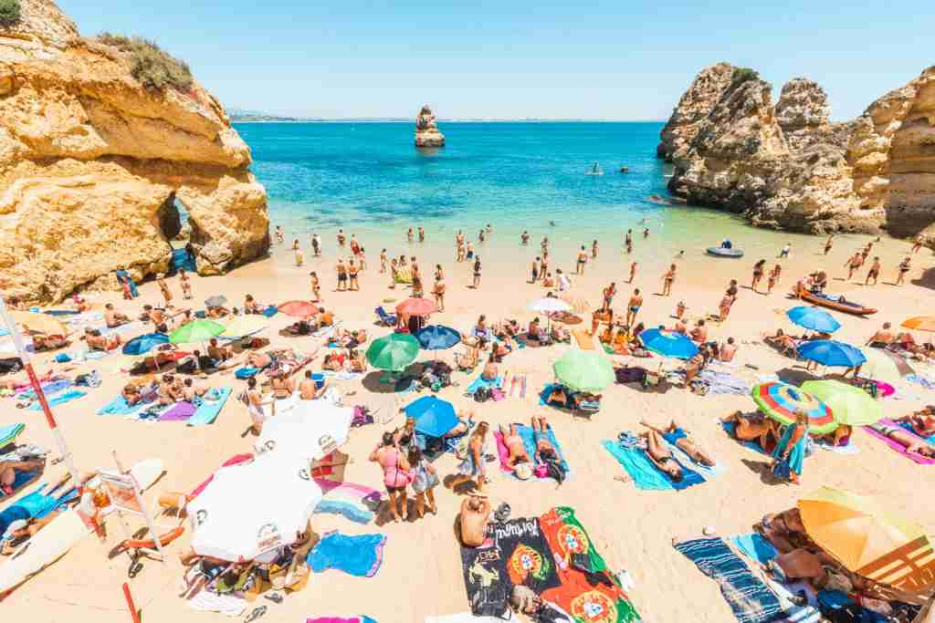 Camilo Beach in Lagos, Portugal. (Photo by © Marco Bottigelli/Getty Images)