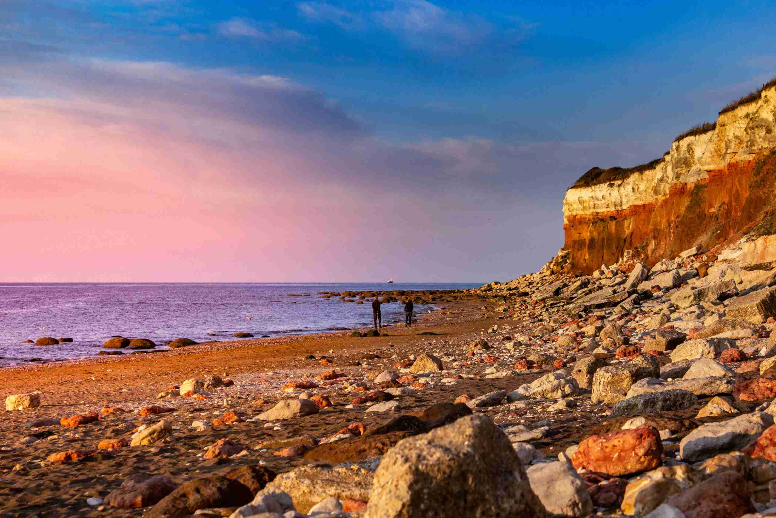 A spectacular sunset at Hunstanton. (Photo by Joel Santos/Getty Images)